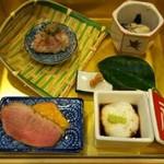 旬菜焼 はざま - 料理写真:「いろどり前菜」