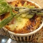 旬菜焼 はざま - 「岩牡蠣のグラタン」