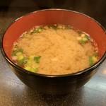 幸寿司 - 味噌汁は海老の頭入り