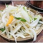 野口家 - ジンギスカンセット(上)@1,100円 の、野菜