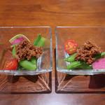 アンディカフェ - 牛スジのコチジャン和え