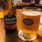 馬車にのったモッツァレッラ - Estrella Galicia(750円)