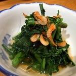 10855018 - 春菊の煮びたし300円です。 これもツボにハマった料理ですよ。