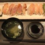 108566795 - 肉寿司、スープ