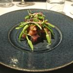 リストランテ カノフィーロ - カツオのクルード 新玉ねぎとトマトのソース