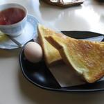 喫茶 マロン - モーニングセット(紅茶) 400円 (2019.5)