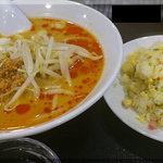 Chuukabishokuasahitei - 坦々めん+半チャーハン