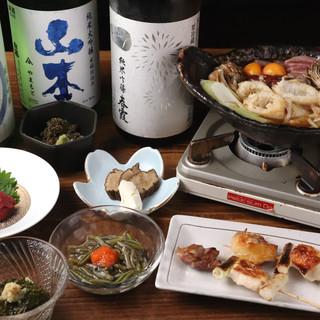 """店主考案の""""元祖・秋田まるごとセット""""で、秋田を食べ尽くす!"""