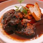 イタリアンハウス パスタ - 豚肉のバルサミコ煮込み