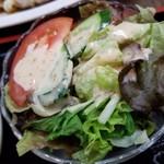 丸宝食堂 - 定食のサラダ