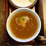 二丸屋武蔵亭 - 宗田節がメインですので蕎麦湯を注ぐと至高の世界が