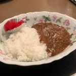 ホテル奥田屋 - 料理写真:夜のサービスカレー  少なめにしてもらいました