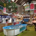 函館朝市 駅二市場 活いか釣り広場 - イカ釣り外観♪