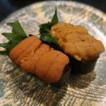 廻鮮寿司処 タフ - うに食べ比べ
