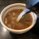 足立製麺所 - 蕎麦湯