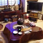田中屋旅館 - 囲炉裏の部屋で