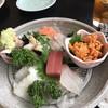 奴 - 料理写真:刺し盛り1人前¥1.500と生ウニ¥870