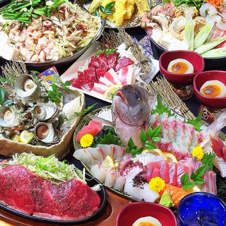 宴会コースは選べる鍋多数でボリューム満点!幹事様も満足!