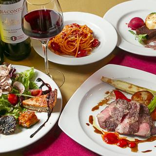 お料理とご一緒に美味しくて高コスパなワインをお楽しみください