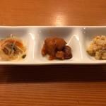 割烹 秋やま - 小鉢 3種類