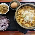 耽羅 - 料理写真:納豆へジャンク+牛肉トッピング