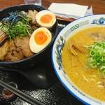 明神そば - 明神そば(醤油)&チャーシュー丼