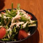 ささ身と水菜のワサビマヨサラダ