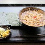 ゆで太郎 - 花巻蕎麦(480円)
