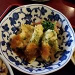 菜はな - 本日の1品『小樽産ヒラメの磯辺揚げ 和風おろしソース』