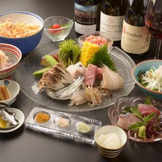 旬をシンプルに味わうなら天ぷらで◆豪華なコース仕立てで提供