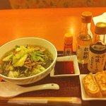 10864641 - 翡翠麺と焼餃子( ´ ▽ ` )ノ