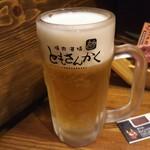 焼肉酒場ともさんかく - 生中ジョッキ 486円