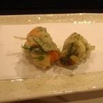 天ぷら 酒菜 醍醐 - ウニの大葉巻き