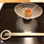 Yamasaki - ★8.5ほっき貝、ズワイガニ、ズワイガニの卵、ホワイトアスパラ、黄身酢