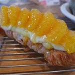 温香 - 無農薬甘夏とクリームチーズのクロワッサン(450円)