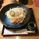 饂飩四國 - 生醤油納豆