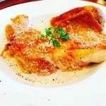 カフェ&シーフードバルべセル - 若鶏のポワレ ごぼうクリームソース