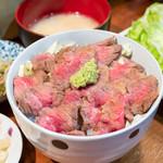 108662947 - 和牛ステーキ丼 950円