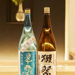 鮨 つむぎ - 料理にそっと寄り添い、美味しさを引き立ててくれる銘酒