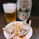 中華そば べんてん - ビール 中 お通し付 550円