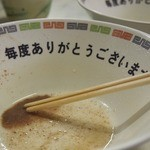 丸星ラーメン - スープ最後まで飲みました