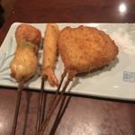 串匠 - 鶉ウィンナー、海老、玉ねぎ!