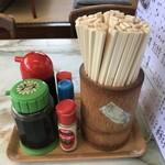 川森食堂 - 調味料等