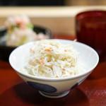 神楽坂 阿部 - 大根とずわい蟹のご飯