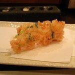 天ぷら 酒菜 醍醐 - 桜エビのかき揚げ