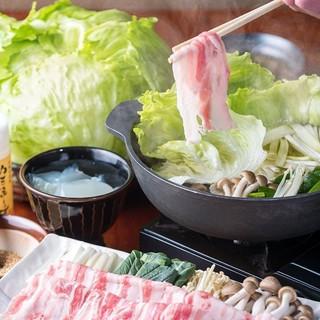 一番人気【レタしゃぶ】自家製コラーゲンと三元豚&山盛レタス