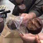 ボンヌ カフェ - ぐちゃぐちゃの乾杯図