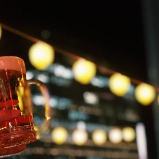ビールはもちろん、【カクテル・ソフトドリンク】も各種ご用意。