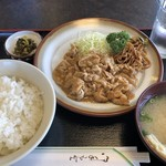 勝利軒食堂 - ♪生姜焼き定食¥750