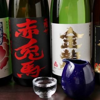 各種地酒、焼酎が楽しめる